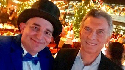La selfie del Mago sin Dientes y el presidente Mauricio Macri