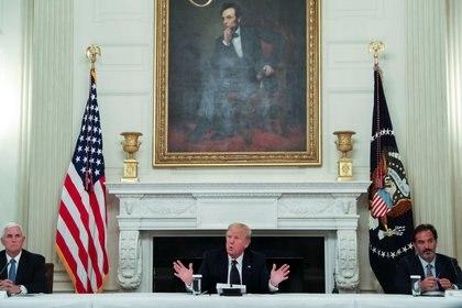 Donald Trump compareció este lunes desde la Casa Blanca (REUTERS/Leah Millis)
