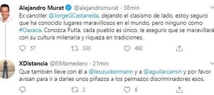 Twitts Murat (Foto: Twitter@alejandromurat)