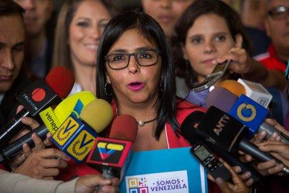 La vicepresidenta venezolana Delcy Rodríguez. EFE/CRISTIAN HERNÁNDEZ/Archivo
