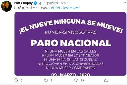 Pati Chapoy dio a conocer, por medio de Twitter, su decisión