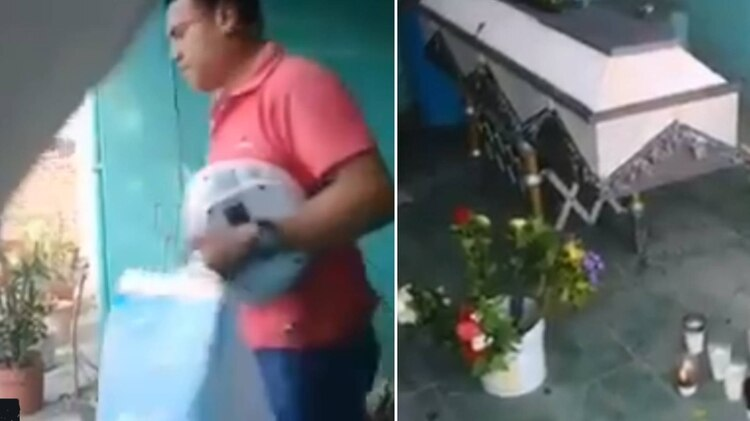 Ni en su funeral se salvó del robo de sus pertenencias (Foto: Captura de pantalla)