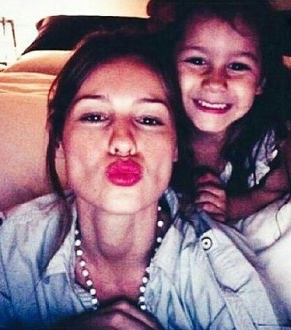 Pampita y su hija Blanca