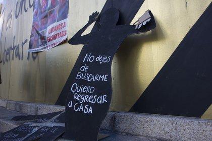 Diciembre de 2019. Protesta por los desaparecidos en México (Foto: NOTIMEX / SUSANA GIL)