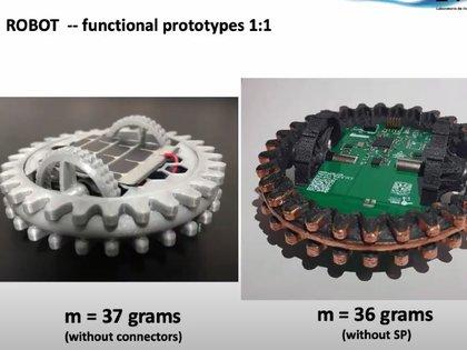Todos los robots tienen veinte centímetros de diámetro y diez de alto.  Foto: Cortesía de la UNAM