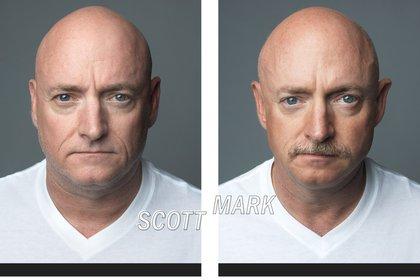 Scott Kelly es gemelo de otro ex astronauta, Mark Kelly