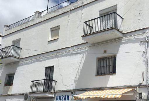La casa donde tenian a los jovenes sudamericanos en Cadiz