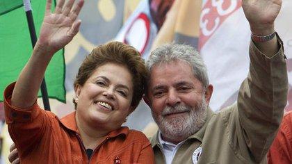 Dilma Roussef y Lula Da Silva (AP)