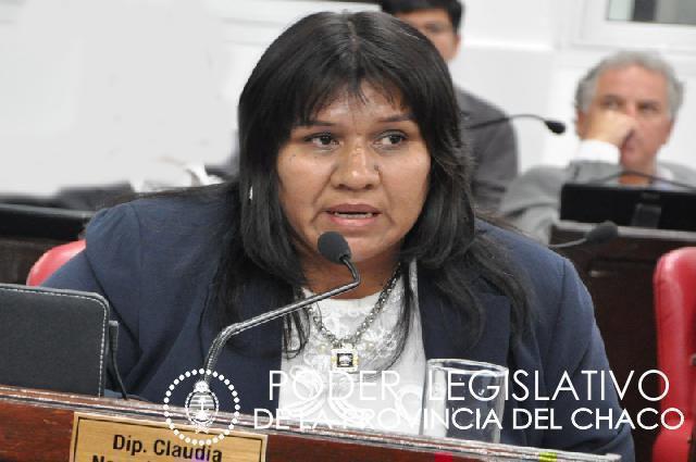 Exdiputada Claudia González