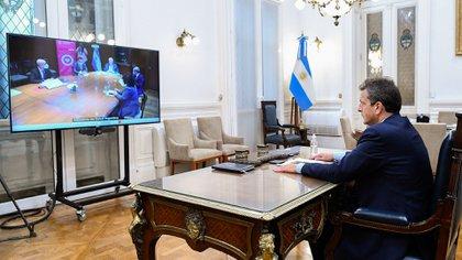 Sergio Massa abrió la presentación del ministro de Salud Foto NA: MAXI VERNAZZA/HCDNzzzz
