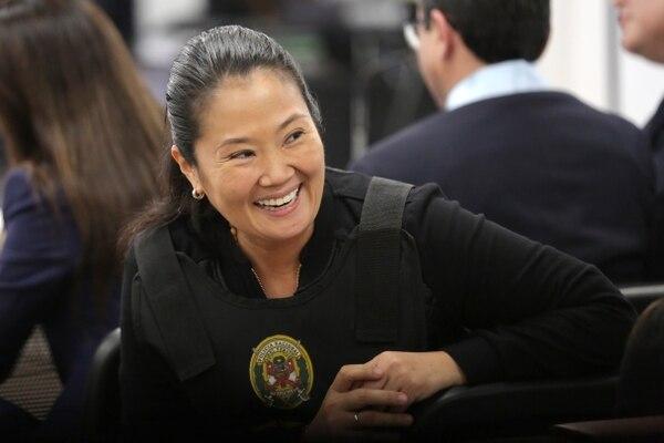 Keiko antes del fallo que dictara su liberación. (Luka GONZALES / AFP)