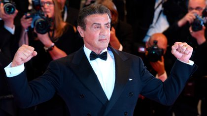[Mandatory Credit: Photo by David Fisher/Shutterstock (10247363ah) Sylvester Stallone 'Rambo V: Last Blood' premiere, 72nd Cannes Film Festival, France - 24 May 2019]