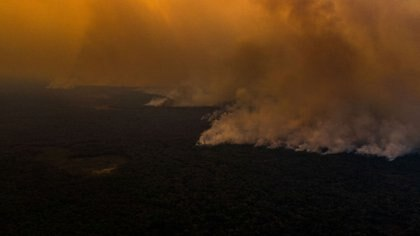 El fuego en Mato Grosso