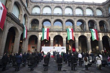 Dos de los invitados de AMLO a su informe brillaron por su ausencia (Foto: Cortesía Presidencia)