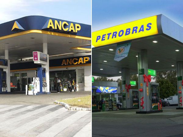 Dos estaciones de servicio en Uruguay