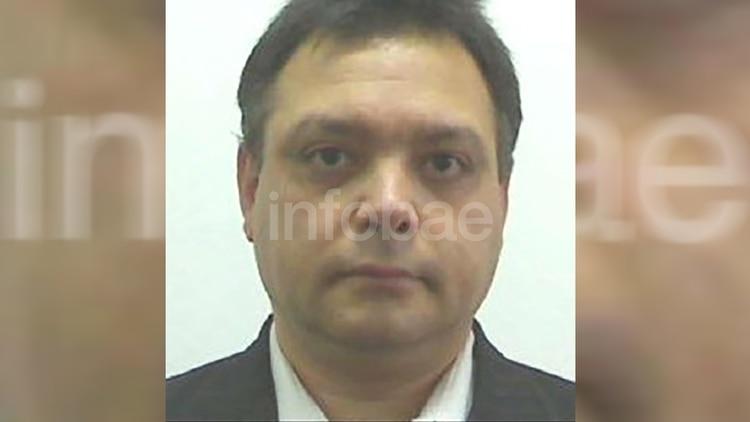 Rafael Cano Carmona, detenido ayer en un departamento de la calle Yrigoyen.
