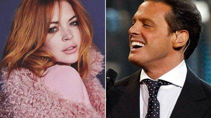 El noviazgo entre Lindsay Lohan y Luis Miguel habría sido fugaz, pero real (Foto: Instagram / @lmxlm @lindsaylohan)