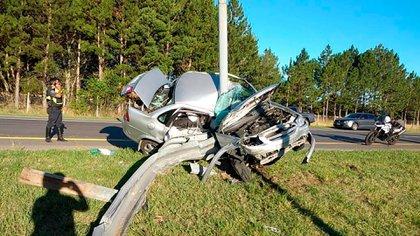 El conductor fue trasladado de urgencia a un hospital de la zona