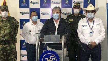 El ministro de Defensa hizo el anuncio durante un consejo de seguridad en Caquetá. Foto: Mindefensa