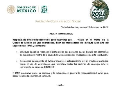 El IMSS se pronunció sobre el video viralizado en redes sociales (Foto: IMSS)