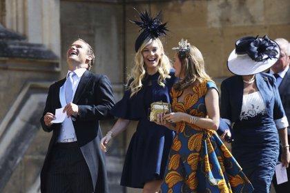 Chelsy Davy. la ex novia del príncipe Harry, presente en la boda del príncipe y Meghan Markle (AP)