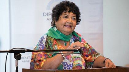 Dora Barrancos durante el debate por la legalización del aborto