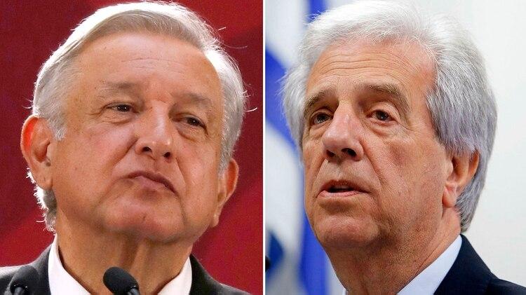 Andrés López Obrador y Tabaré Vázquez