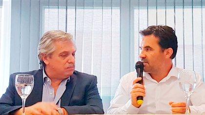 El secretario de Energía, Darío Martínez, junto al presidente Alberto Fernández.