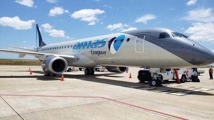 Un avión de la aerolínea uruguaya Amaszonas