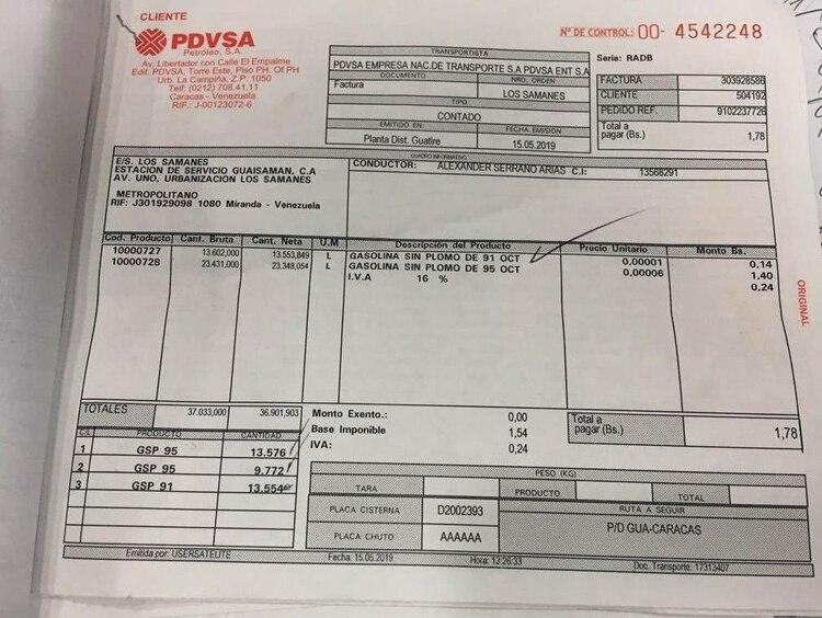 La suma que se paga por combustible en Venezuela es ínfima.