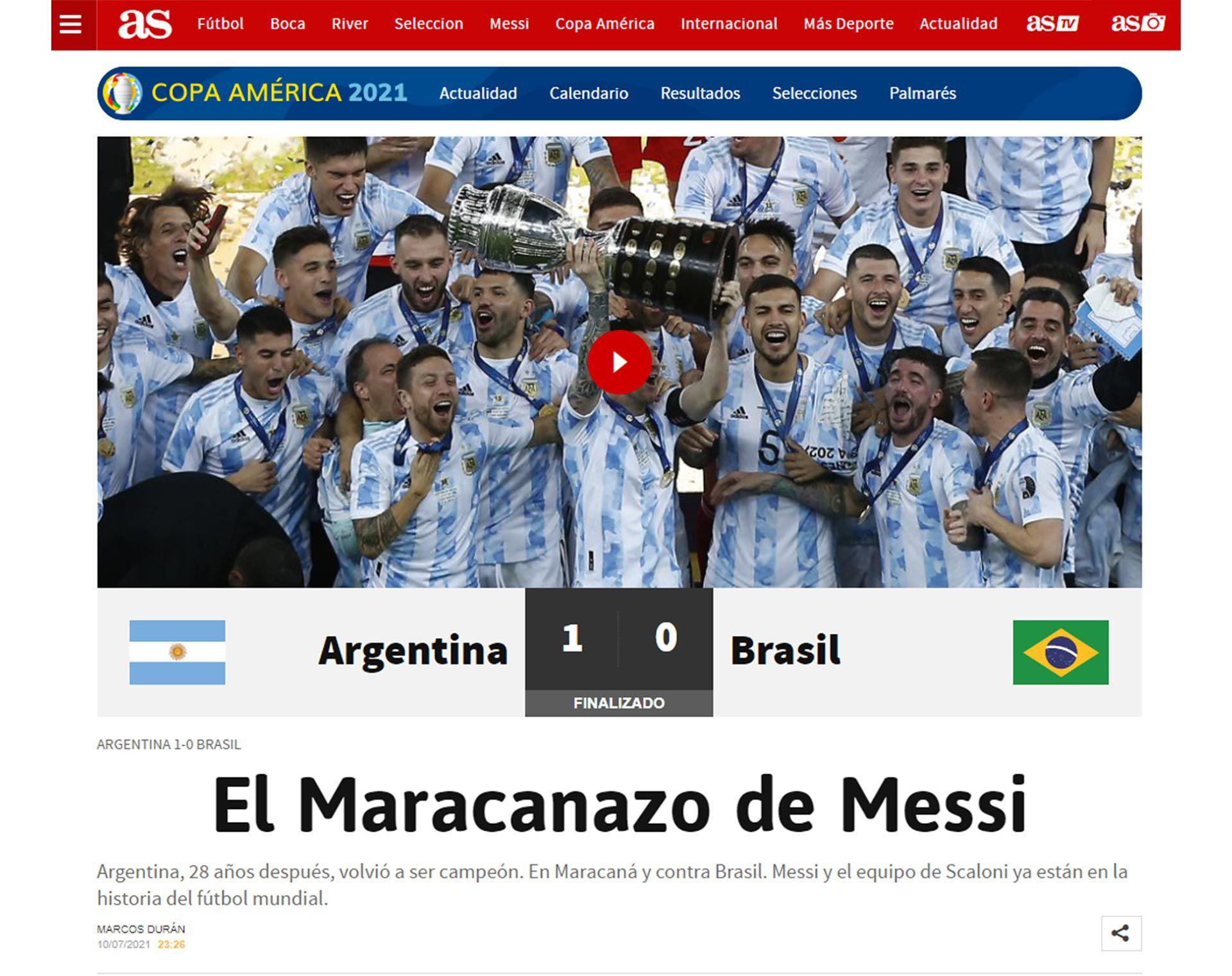 TAPAS DEL MUNDO POR COPA AMERICA ARGENTINA
