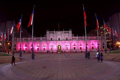 El Palacio de la Moneda, en Santiago de Chile