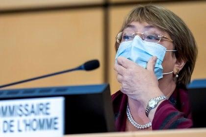 La alta comisionada para los derechos humanos de la ONU, Michelle Bachelet. Foto: Trezzini/via REUTERS