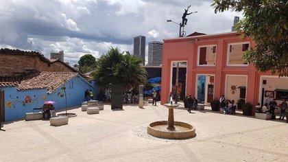 Plazoleta del Chorro de Quevedo, en la Candelaria, centro de Bogotá.