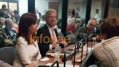 Cristina Kirchner durante la declaración indagatoria de este lunes
