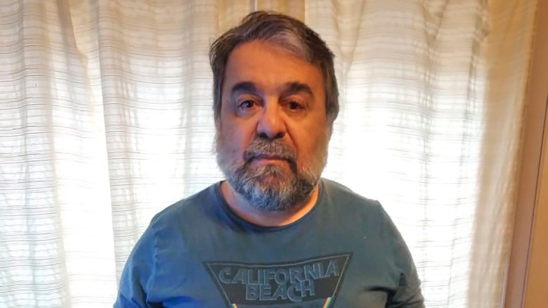Néstor Loretto, paciente con diabete