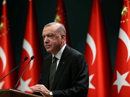 El presidente de Turquía, Tayyip Erdogan, en noviembre de 2020 (Foto: Reuters)