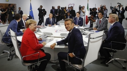 La cumbre del G7 se desarrolló en la ciudad francesa de Biarritz (Photo by PHILIPPE WOJAZER / POOL / AFP)