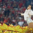 Soccer Football - Champions League Final - Real Madrid v Liverpool - NSC Olympic Stadium, Kiev, Ukraine - May 26, 2018 Singer Dua Lipa performs before the match REUTERS/Kai Pfaffenbach