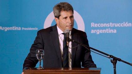 El gobernador de San Juan, Sergio Uñac, habló minutos antes que el presidente Alberto Fernández
