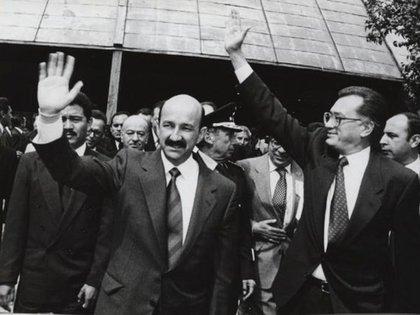 Carlos Salinas y Manuel-Bartlett (Foto: Especial)