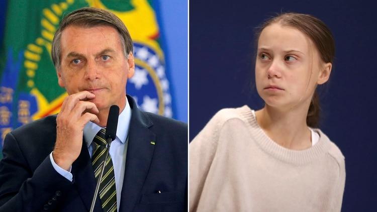 """Jair Bolsonaro llamó """"mocosa"""" a Greta Thunberg: la reacción de la activista"""