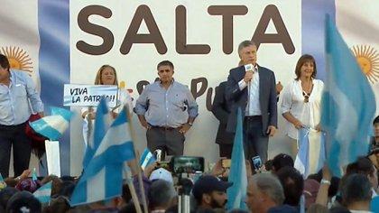 """Macri estuvo ayer en Salta en el marco de la campaña """"Sí, se puede"""""""