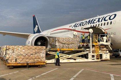 Aeroméxico ha operado los vuelos realizados hasta ahora entre México y China (Foto: Twitter @ConsulMexSha)