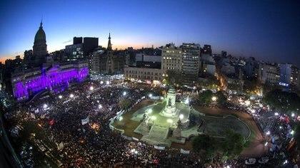 Manifestación contra la violencia de género en Argentina, en el año 2015