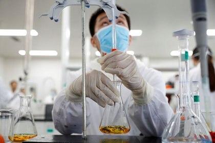 FOTO DE ARCHIVO: Un laboratorio de Sinovac Biotech en Beijing, China, el 24 de septiembre de 2020 (Reuters)