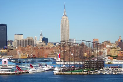 El Golf Club and Sports CenterenChelsea Piers junto al Empire State (Getty Images)