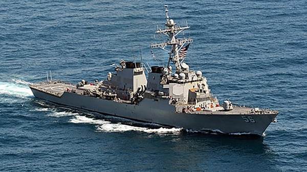 Un destructor estadounidense de la clase Arleigh Burke, como los que suelen patrullar aguas reclamadas por China