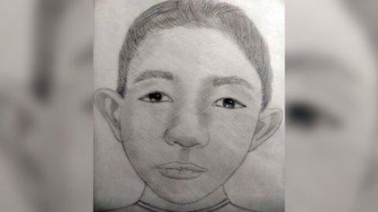 Retrato dibujado del niño del suéter rojo (Foto: Fiscalía General de Justicia del Estado de México)