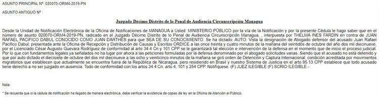 La decisión de la Justicia de Nicaragua